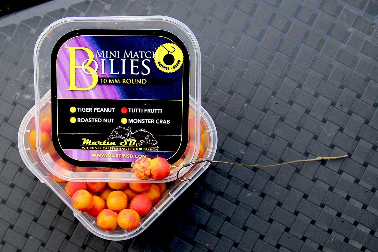 Mini Match Boilies – Naturel Dumbell 7 mm – 4 soorten